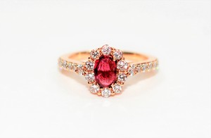 Le Vian Red 1.29tcw Untreated Ruby Diamond 14kt Rose Gold Engagement Ring