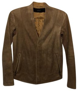VEDA Gold Leather Jacket