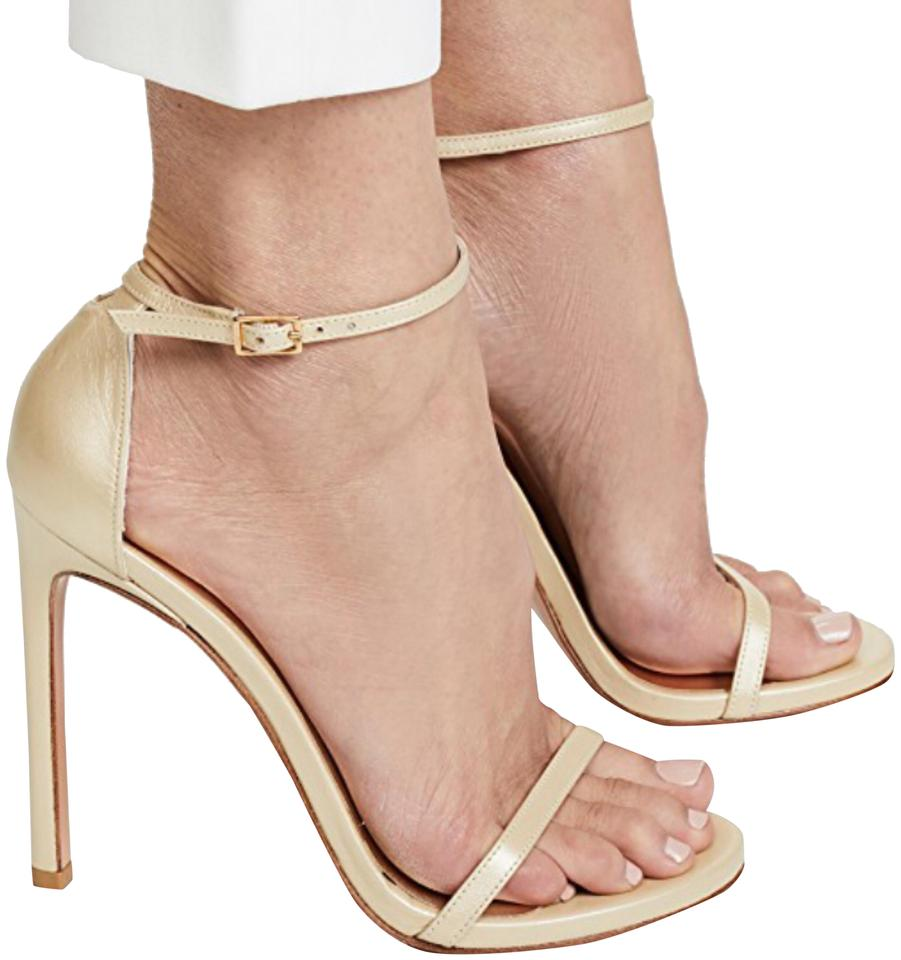 d600179ae9be Stuart Weitzman Nude Nudistsong Patent Ankle-wrap Sandals Formal Shoes