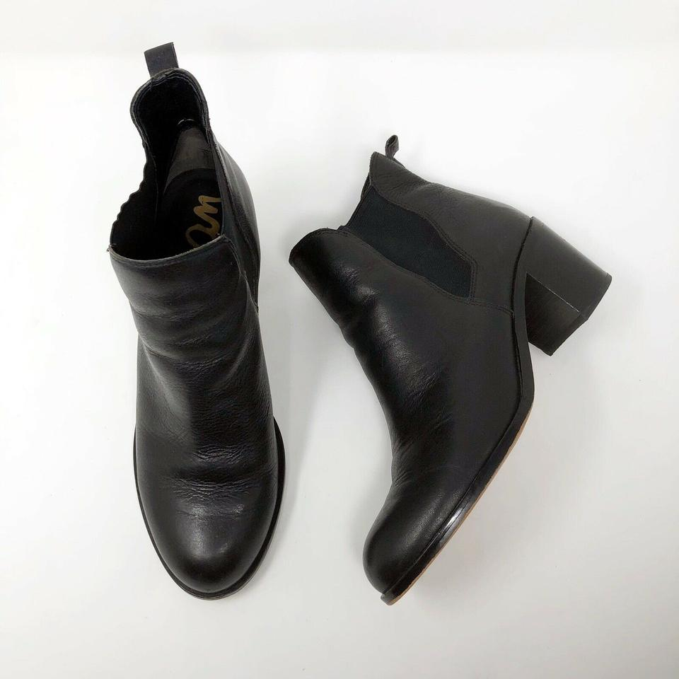 9a71c86d404f Sam Edelman Black Justin Chelsea Stacked Chunky Heel Ankle Boots Booties