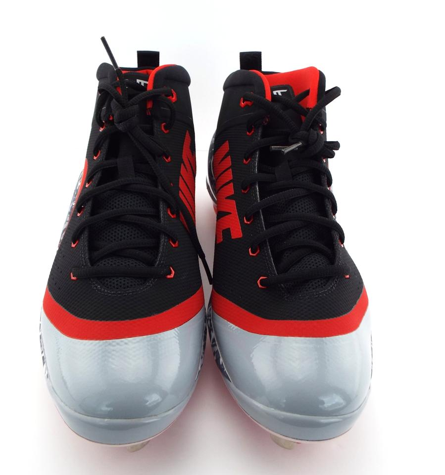 e64823968d1 Nike Black University Red Wolf Grey Zoom Trout 4 Cleats Spikes 917837-060.  1234567