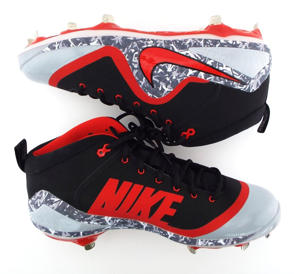 4013dd4705b Nike Black University Red Wolf Grey Zoom Trout 4 Cleats Spikes 917837-060.  1234567