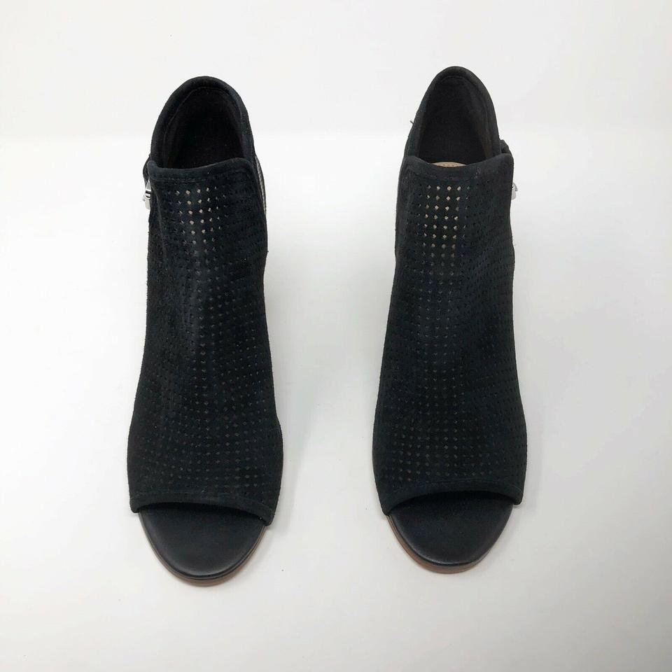 bd21f987a8de3e Sam Edelman Perforated Leather Open Toe Ankle Buckle Black Boots Image 9.  12345678910