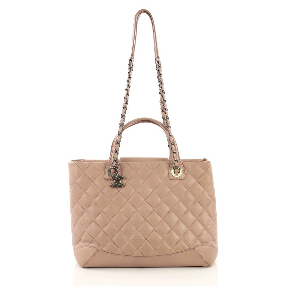 8897a7be363f Chanel Shopping Easy Quilted Medium Mauve Lambskin Leather Tote ...