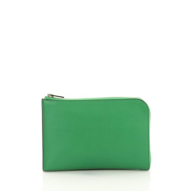 Item - Remix Duo Wallet Evercolor Medium Bambou Green Leather Clutch