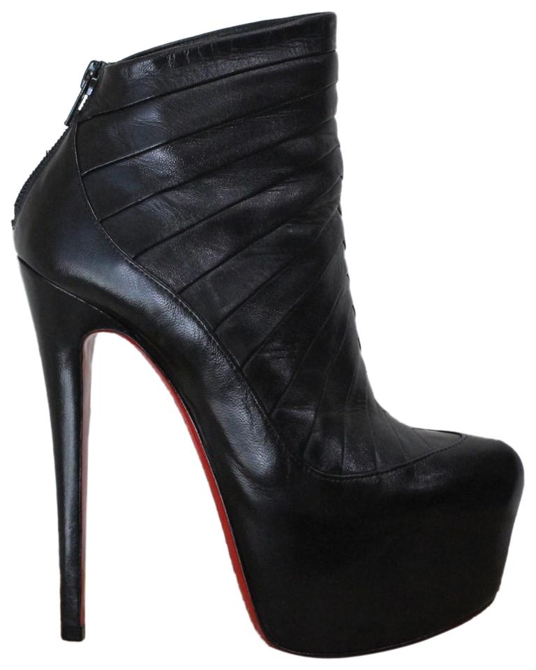 5d8405a876b Christian Louboutin Black Amor Leather Boots Booties Size EU 35 ...