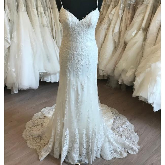 Maggie Sottero Ivory/Light Chmp Lace Nola By Vintage Wedding Dress Size 8 (M) Maggie Sottero Ivory/Light Chmp Lace Nola By Vintage Wedding Dress Size 8 (M) Image 1