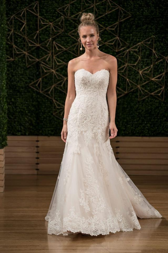 1a848027 Maggie Sottero Ivory/Lt Gold Lace Saige By Vintage Wedding Dress. Street  Size: 10 ...