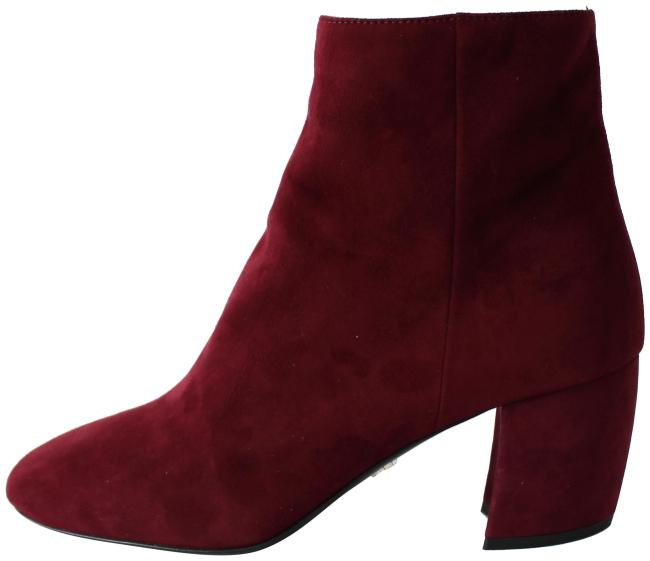 Item - Granato Wine Red Suede Block Heel Ankle Boots/Booties Size EU 36.5 (Approx. US 6.5) Regular (M, B)