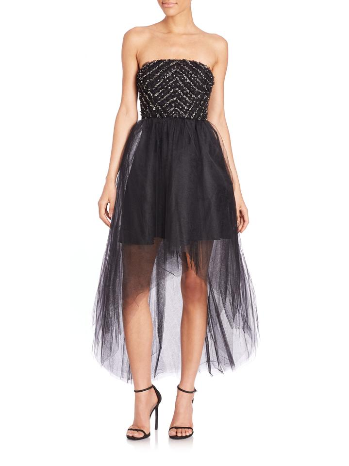 104419fc38 Parker Black Polyester Strapless Tulle Midtown Formal Modern Bridesmaid Mob Dress  Size 8 (M ...