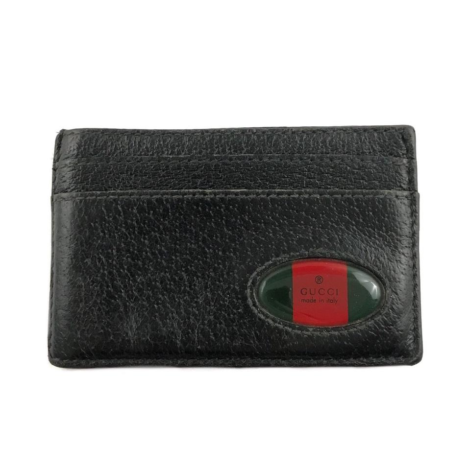 96c4ad0a0df4 Gucci Black Leather Card Holder Wallet - Tradesy