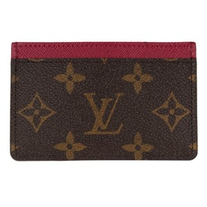 49d4656d3b5e Louis Vuitton Brown New Monogram Credit Card Holder 7109 Wallet - Tradesy