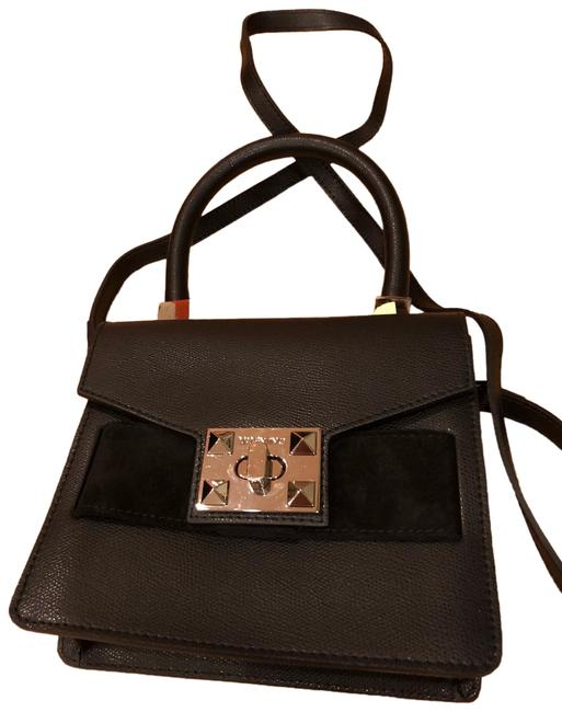 Item - Black Leather Cross Body Bag