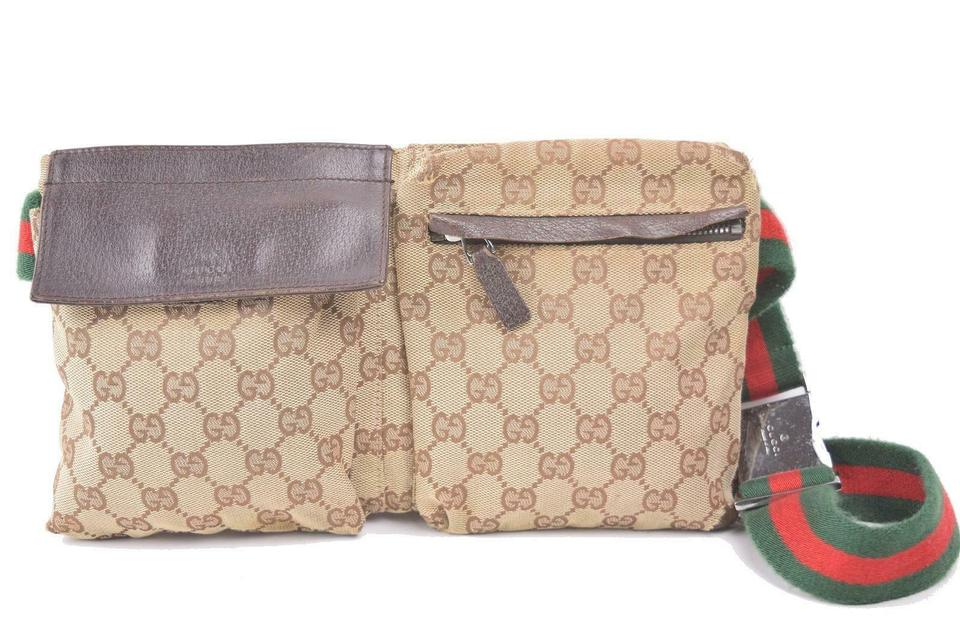 87ea8fc2acb Gucci  ebay Sold  Sherry Monogram Web Fanny Pack Belt Bum Pouch ...