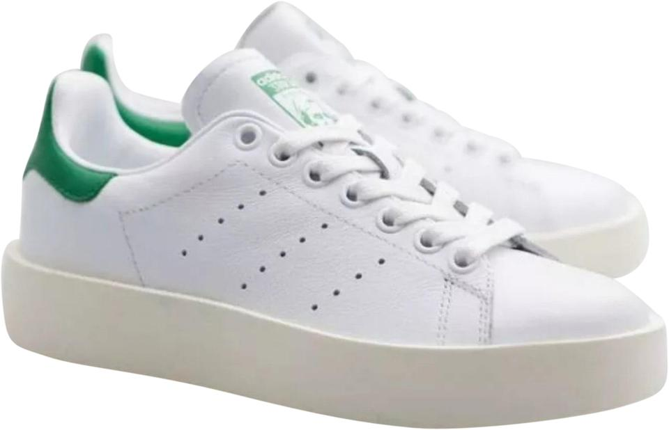 official photos 40e7b 7211e adidas Cloud White / Cloud White / Green Stan Smith Bold Platform Sneakers  Size US 7 Regular (M, B)