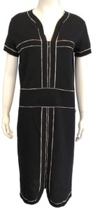 Chanel short dress Black Sheath Little Knit And Ivory on Tradesy