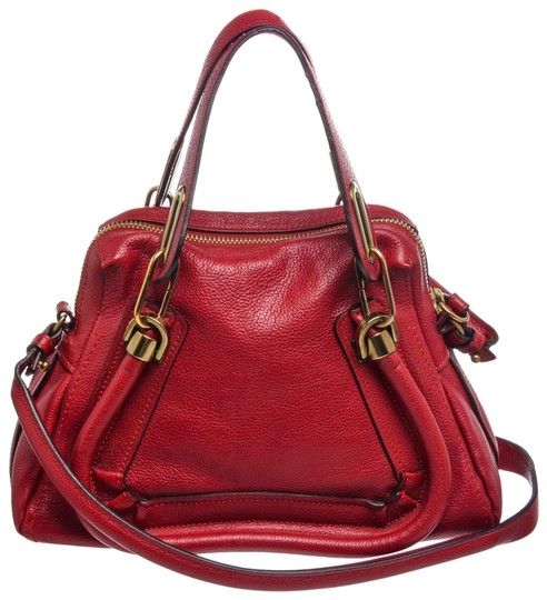 Preload https://img-static.tradesy.com/item/24911299/chloe-paraty-small-handbag-red-grained-leather-satchel-0-1-540-540.jpg