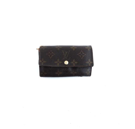 Louis Vuitton Vintage Porte Monnaie Tresor Monogram Canvas Leather Clutch Wallet