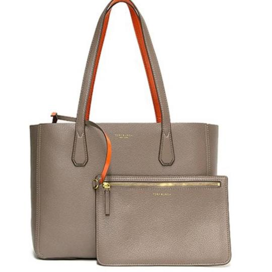 Preload https://img-static.tradesy.com/item/24911441/tory-burch-perry-mini-w-removable-pouch-grayorange-leather-tote-0-0-540-540.jpg