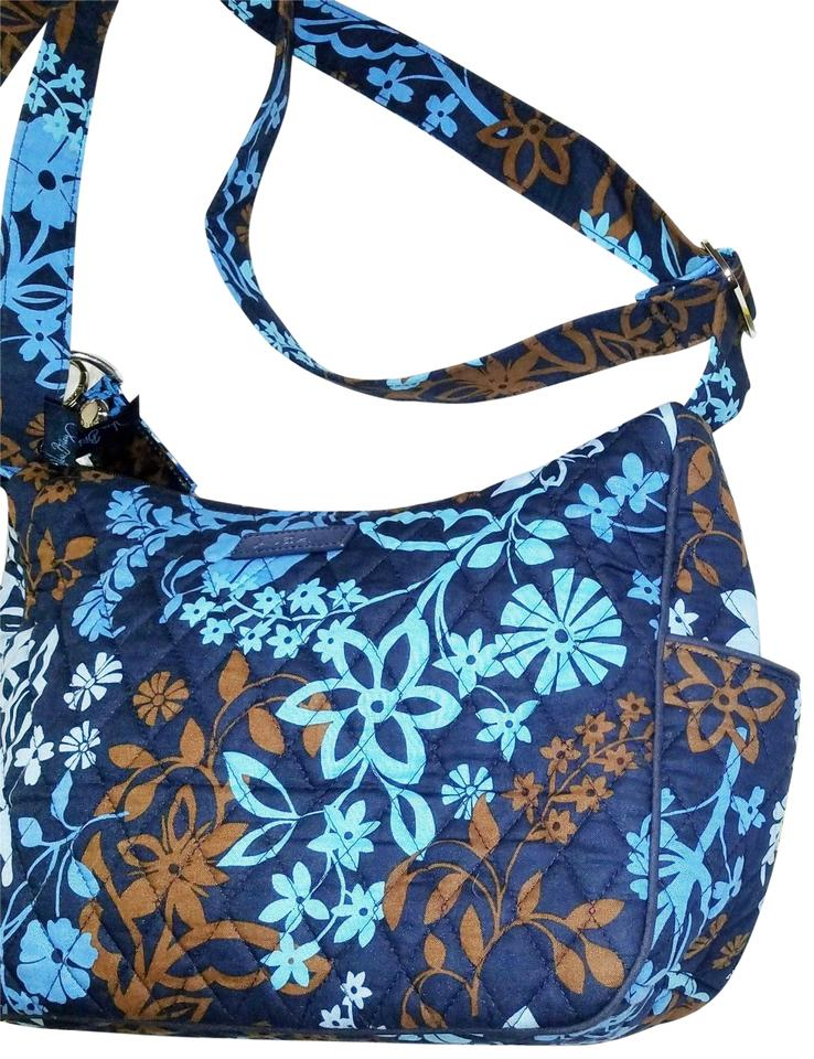 111e7db00 Vera Bradley Java Print Blue and Brown Shoulder Bag - Tradesy