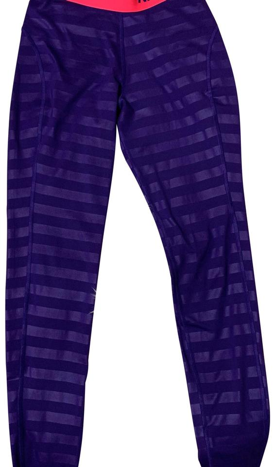 25c0393db1cb40 Nike Purple Pro Hyperwarm Embossed Training Tights Activewear ...