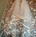 Eggshell Long Silk Tipped Bridal Veil