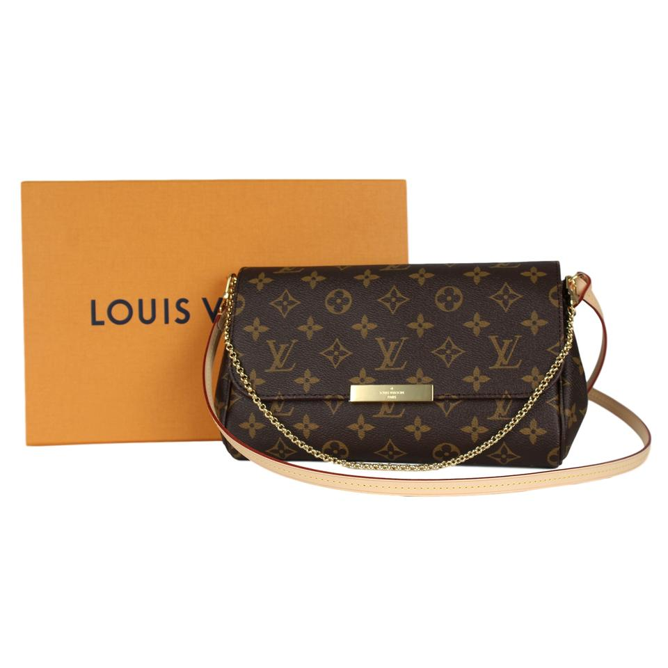 0bf25b89729d Louis Vuitton Favorite New Sold Out Mm Monogram 7094 Brown Canvas Cross  Body Bag