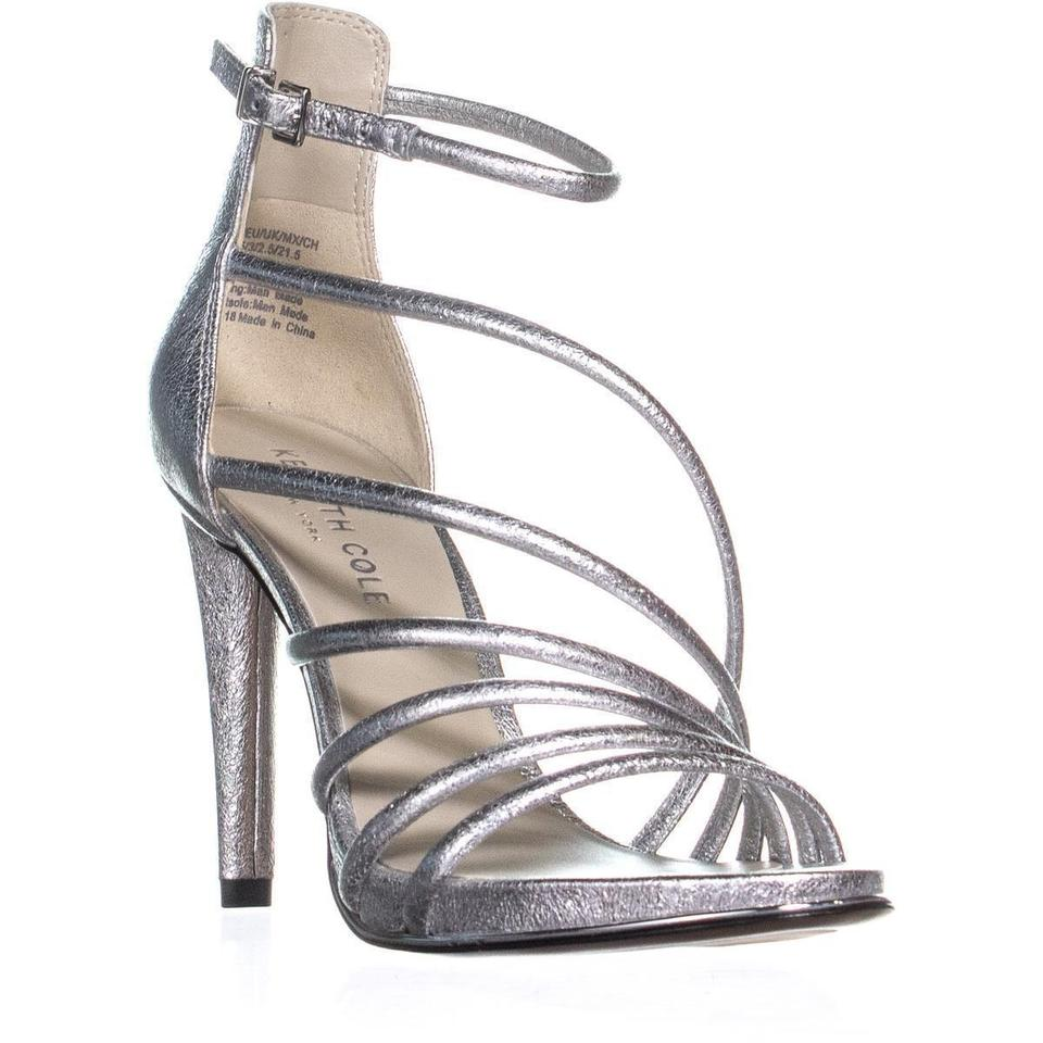 0e6c4e375933 Kenneth Cole Silver Barletta Strappy Sandals Nickel   41 Eu Pumps ...