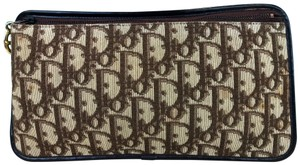 Dior Christian Trotter Canvas Pouch Brown Clutch dd1eed3e9cae2