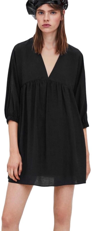 b63a0bf3 Zara Black Puff Sleeve Short Casual Dress Size 8 (M) - Tradesy