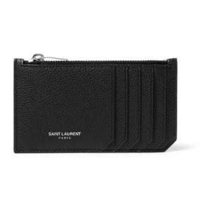 Saint Laurent leather card holder coin case