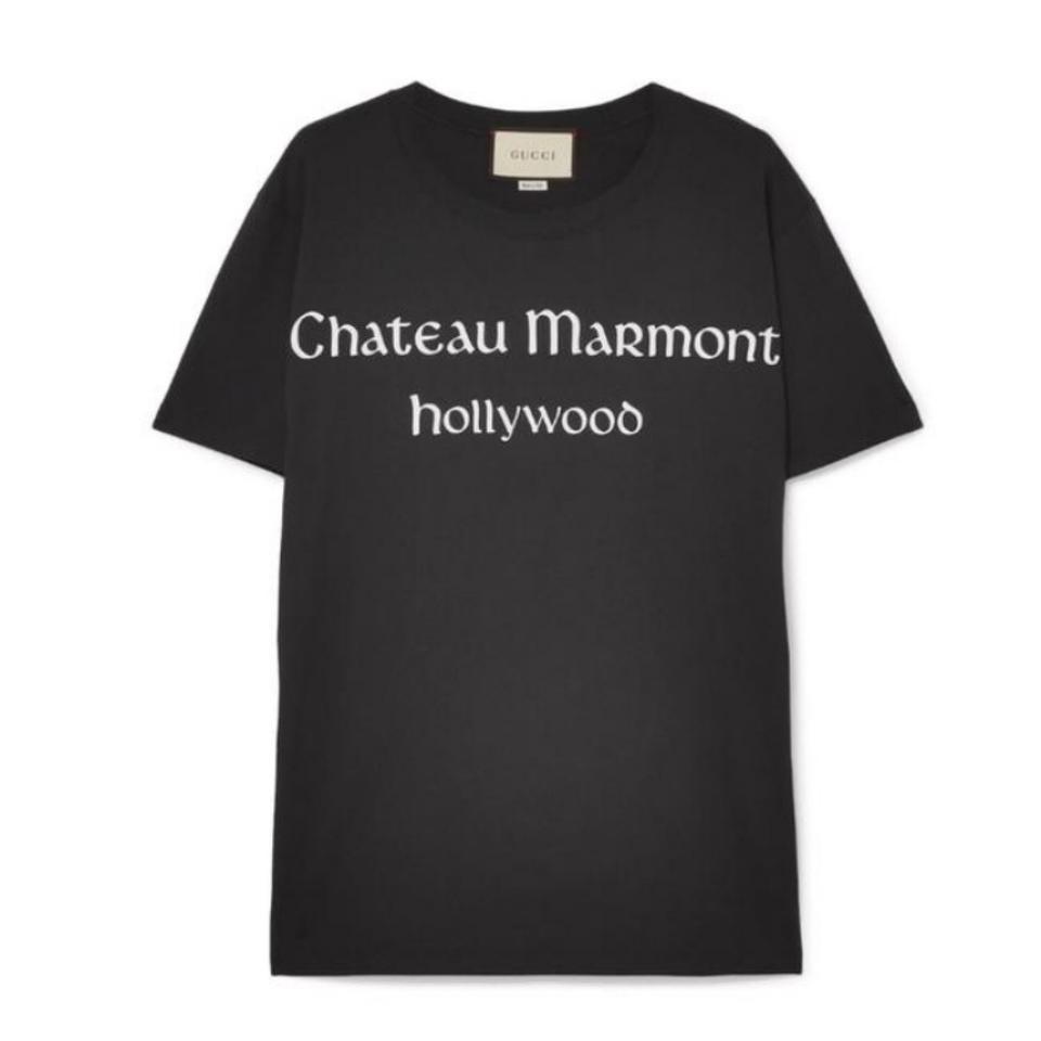 d66749d483f318 Gucci Marmont Chateau Printed Tee Shirt Size 4 (S) - Tradesy