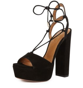 Aquazzura Black Platforms