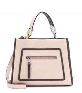 Fendi Two Satchel Tote in beige