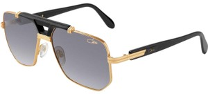 860b4de529b5 Cazal Black and Gold Legends 990 Retro Pilot Aviators Sunglasses ...
