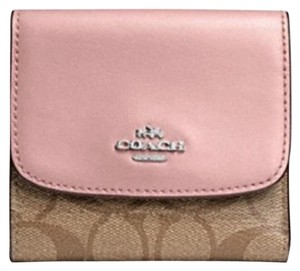 Coach Small Wallet In Signature Canvas