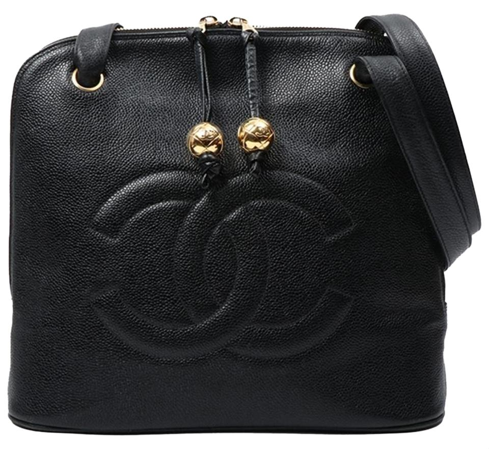 8002465e3f81 Chanel Shopping Vintage Jumbo Shoulder Black Caviar Leather Tote ...