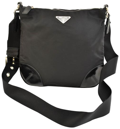 Preload https://img-static.tradesy.com/item/24913621/prada-black-vela-nylon-and-leather-logo-nx-cross-body-bag-0-1-540-540.jpg