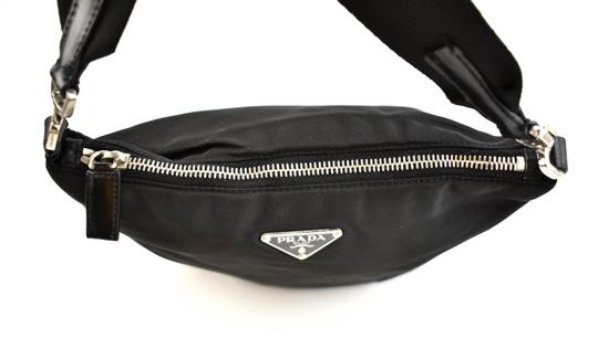Prada Logo Vela Leather Cross Body Bag