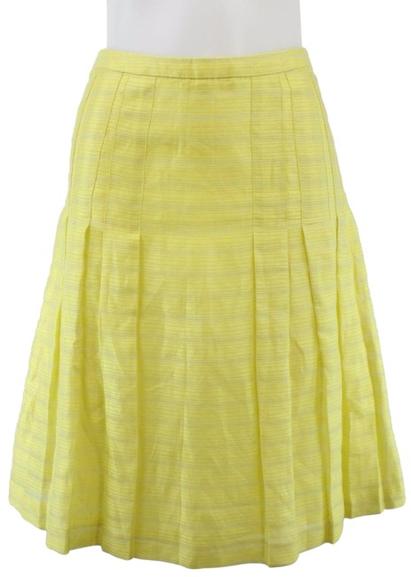 Item - Yellow Pleated A-line Skirt Size 6 (S, 28)