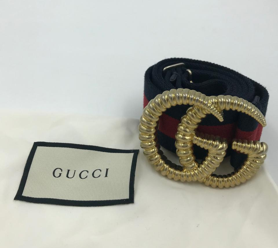 84b5f9274d1 Gucci Blue Red Piccadilly Moon Elastic Web Size  85 Belt - Tradesy