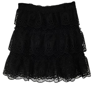 self-portrait Mini Skirt Black