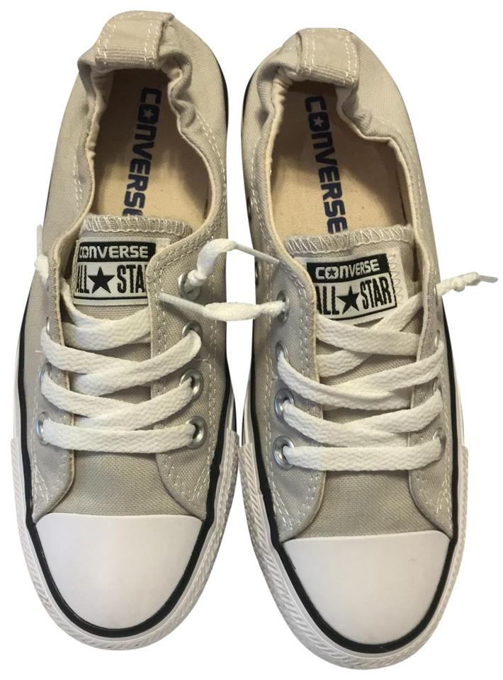 bcfc3a3317a8 Cloud Gray with White Laces Shoreline Slip Sneakers