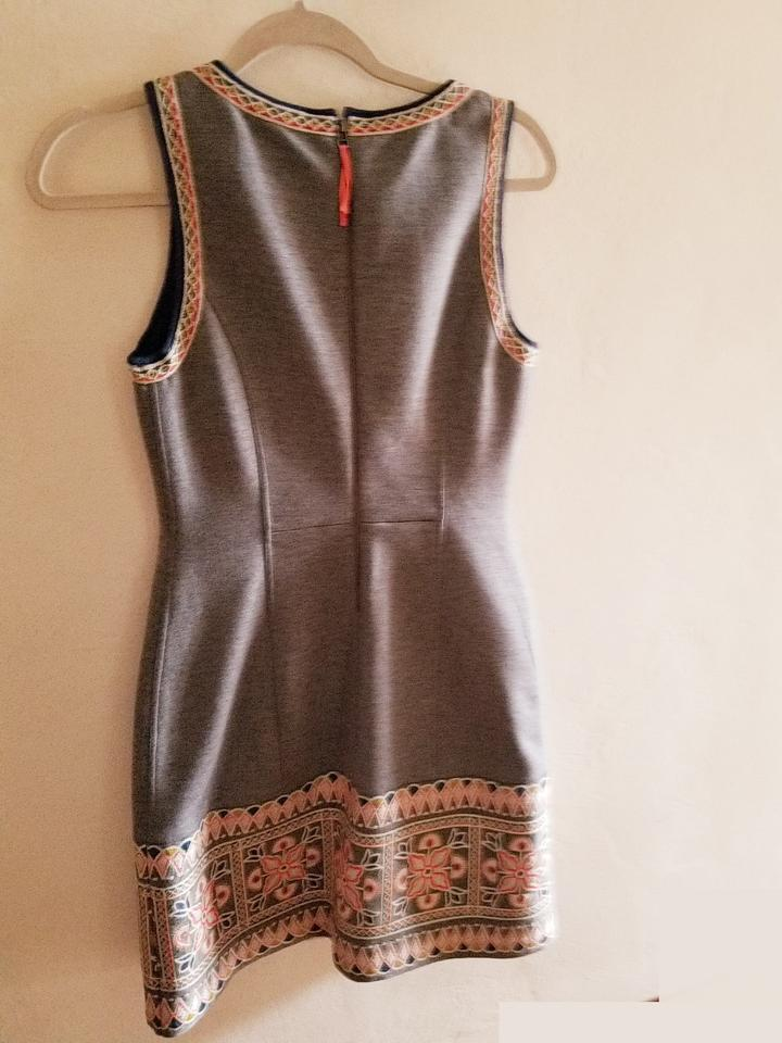 14b0f6f581e Maeve Grey Anthropologie Embroidered Jumper Short Casual Dress Size ...