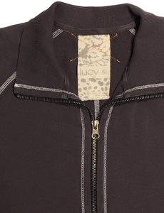 lucy Classic full zip cotton blend athletic jacket
