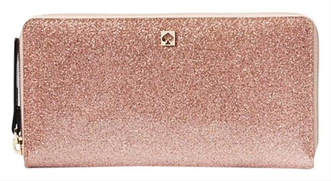 Kate Spade Rose Gold Mavis Street Neda Zip Around Wallet Kate Spade Rose Gold Mavis Street Neda Zip Around Wallet Image 1