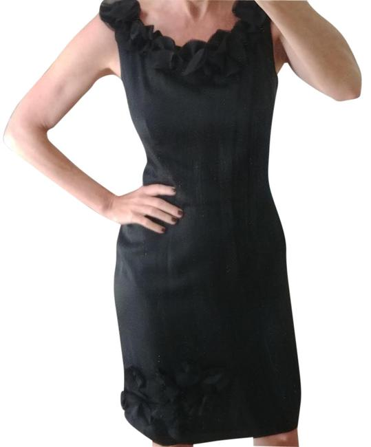 Item - Black Silk Shift Mid-length Night Out Dress Size 2 (XS)