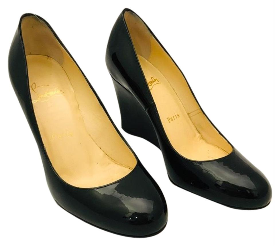 6cb8856b0a3 Black Patent Leather Wedges