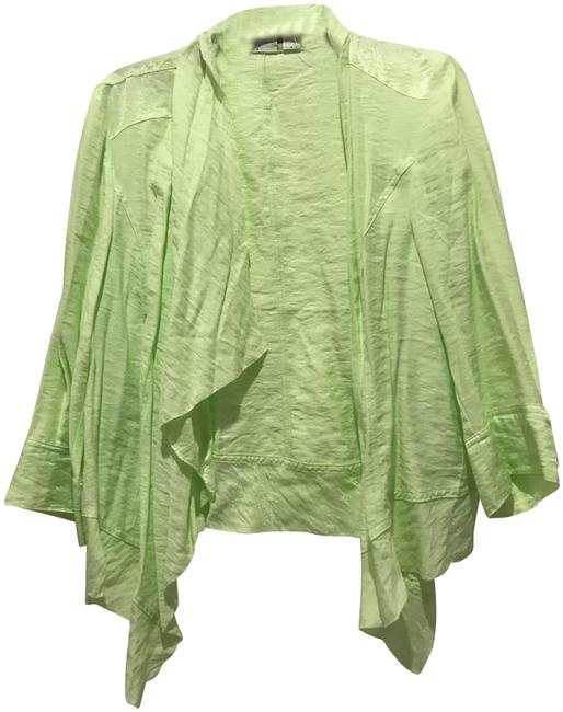 Preload https://img-static.tradesy.com/item/24914086/chico-s-lime-green-drape-front-jacket-ponchocape-size-14-l-0-1-650-650.jpg