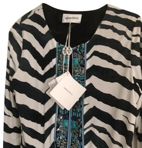 zebra black and white withe colorful stone Maxi Dress by Emilio Pucci